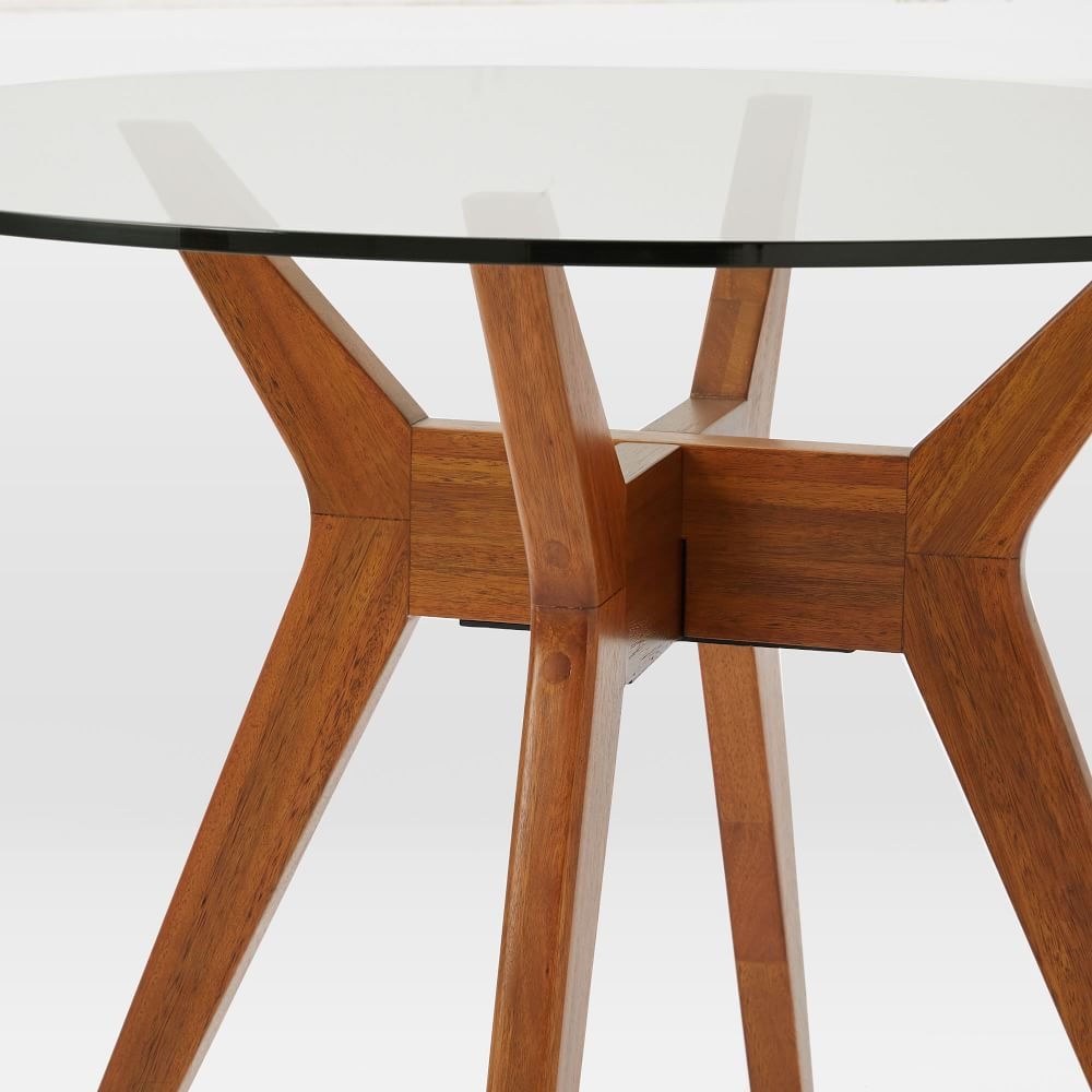 Jensen round glass dining table west elm uk for Round glass dining table