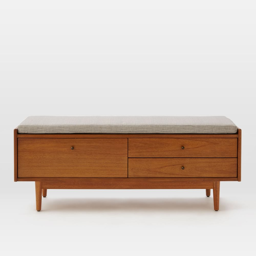 Foyer Bench Modern : Mid century entryway bench west elm uk