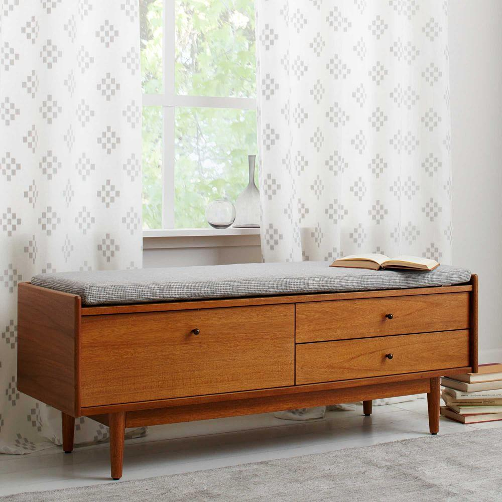Foyer Furniture Uk : Mid century entryway bench west elm uk