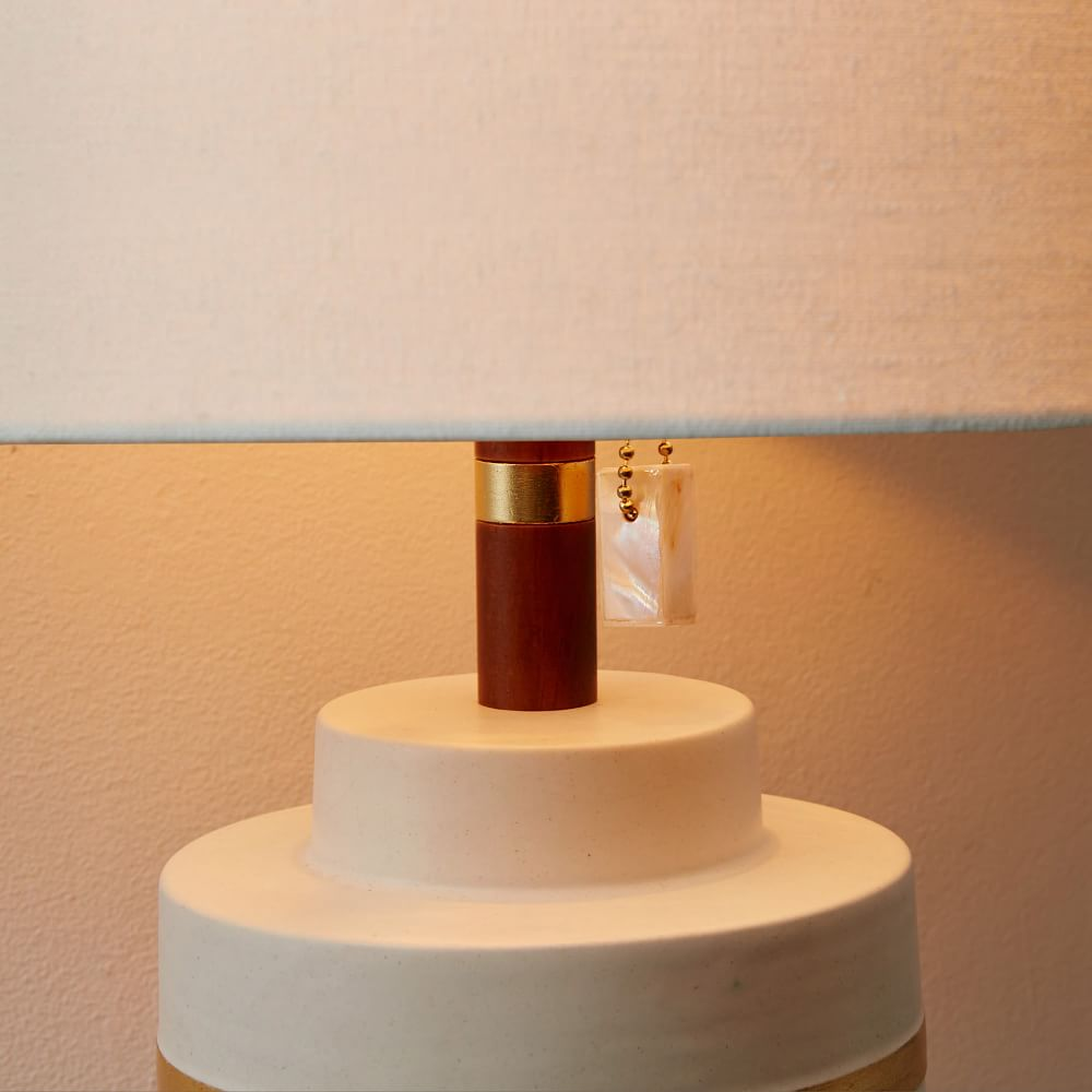 Roar Rabbit Crackle Glaze Ceramic Table Lamp Small