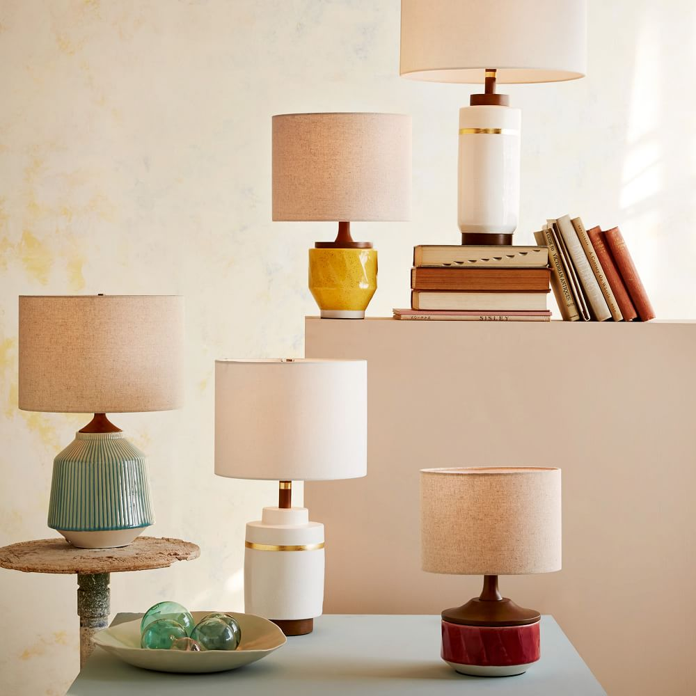 Roar Rabbit Ripple Ceramic Table Lamp Turquoise