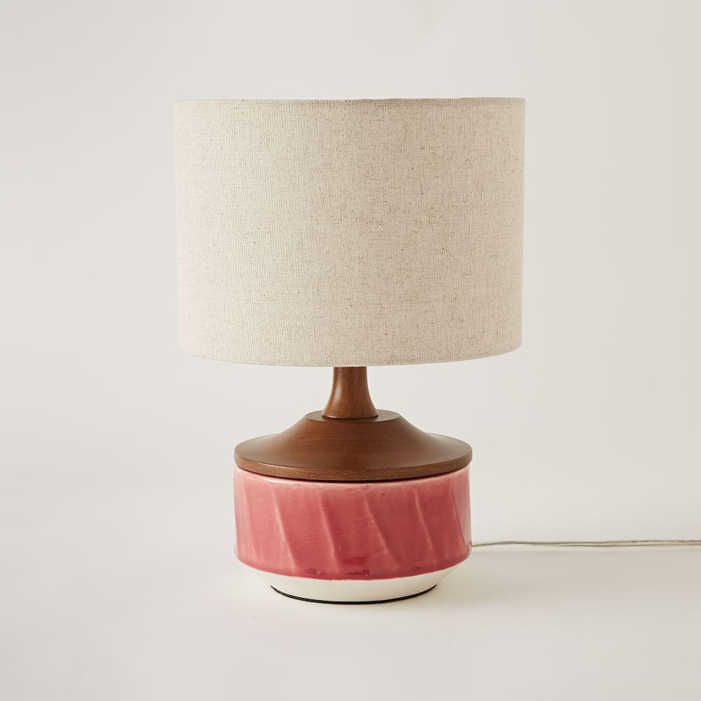 Roar Rabbit Ripple Ceramic Table Lamp Pink West Elm Uk