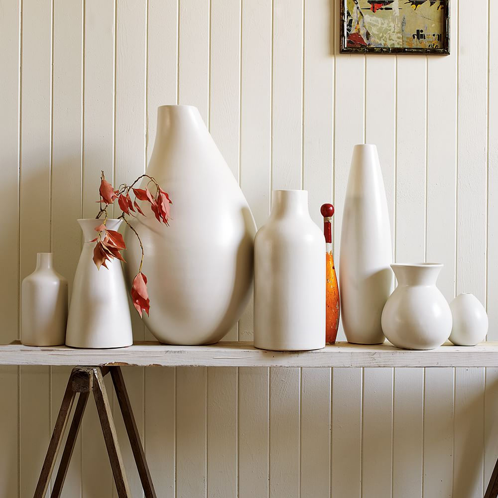 Pure White Ceramic Vases West Elm Uk