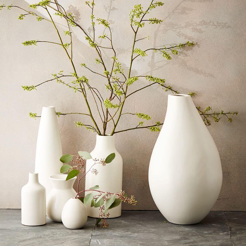 Pure White Ceramic Vases West Elm Uk