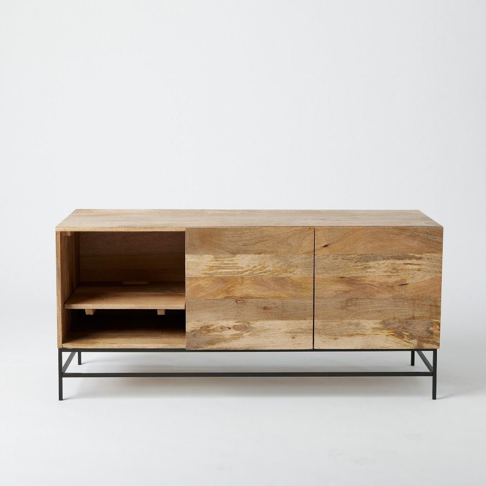 Industrial Storage Media Console 132 Cm West Elm Uk