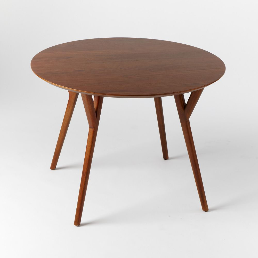 Mid century round dining table west elm uk for Round dining table
