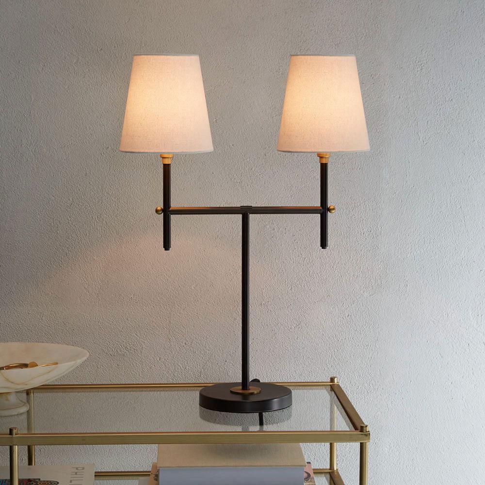 Arc Mid Century Table Lamp Medium Antique Bronze
