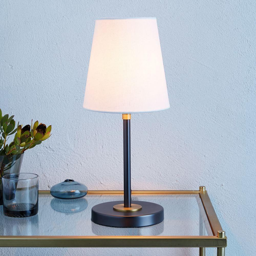 Mid Century Standard Lamp: Arc Mid-Century Table Lamp - Small (Antique Bronze)
