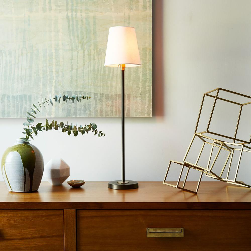 Arc Mid Century Table Lamp Tall Antique Bronze West