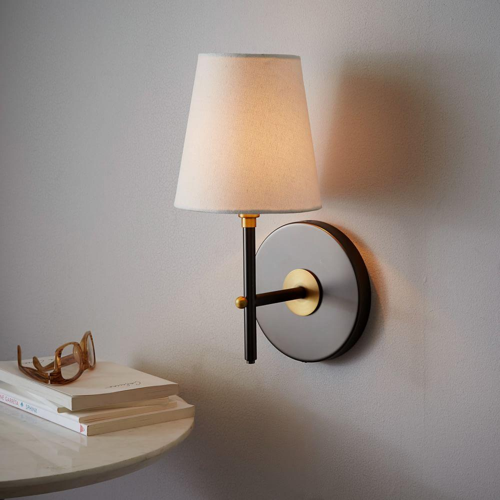 Arc Mid-Century Sconce - Single (Antique Bronze) west elm UK