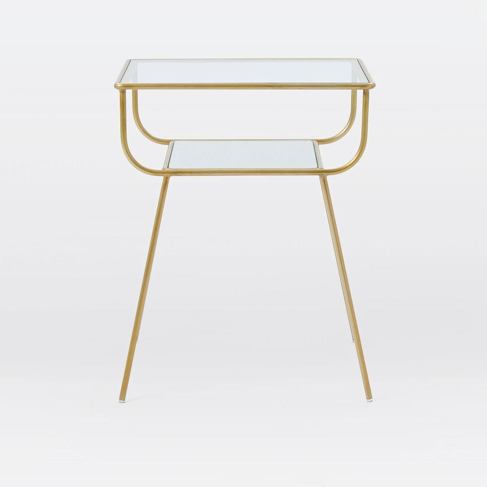 Curved Terrace Bedside Table