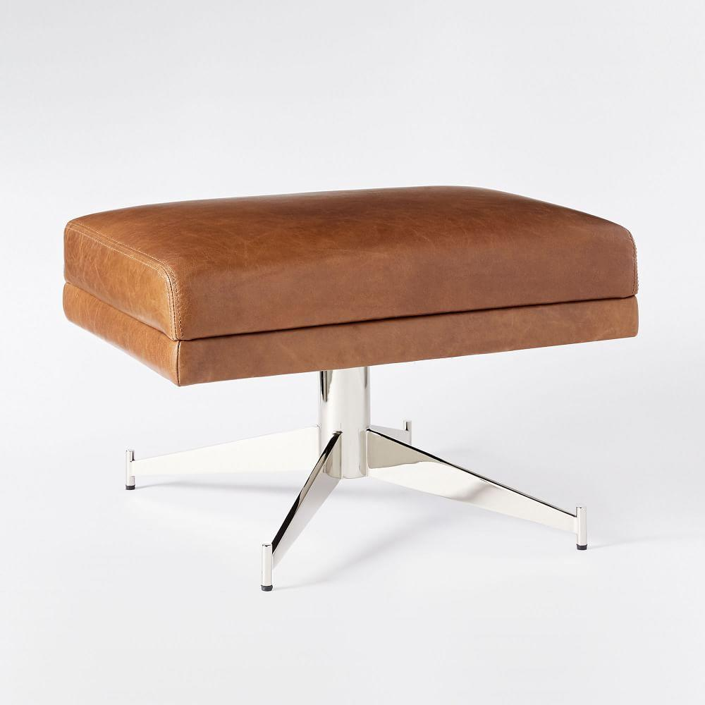 Hemming Leather Footstool - Saddle