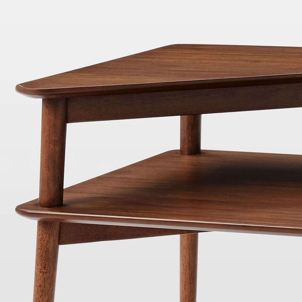 Mid century stepped side table west elm uk for West elm c table