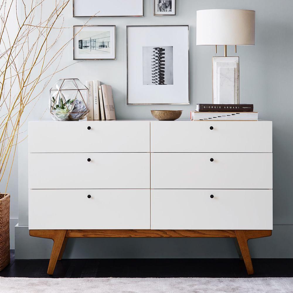 Modern Style Dresser: Modern 6-Drawer Chest