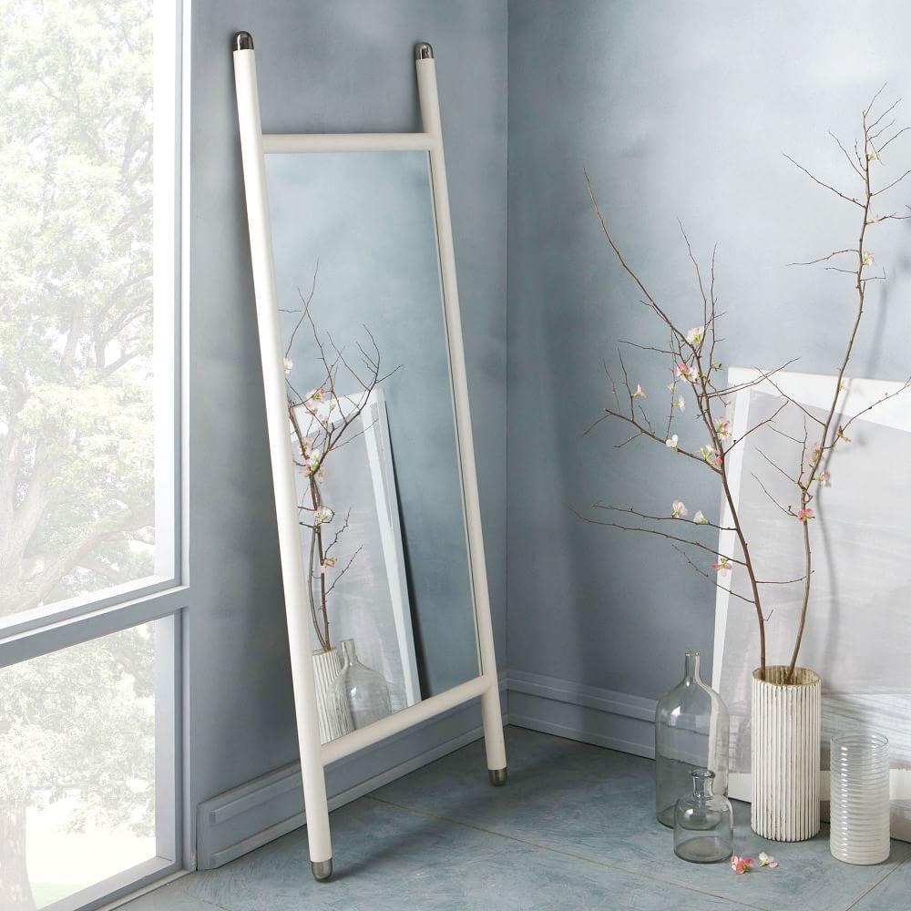 Mid Century Dowel Mirror White West Elm