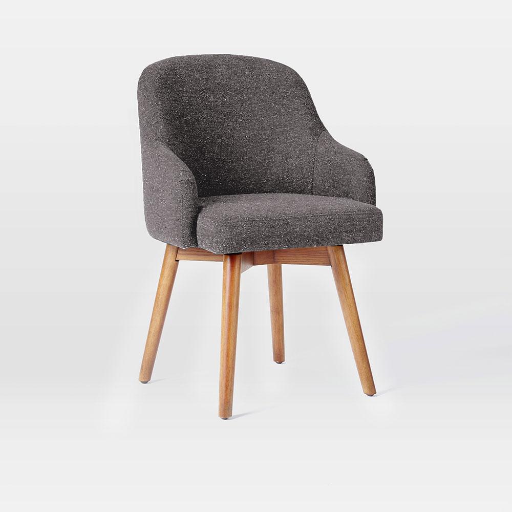 Saddle Office Chair Salt Pepper