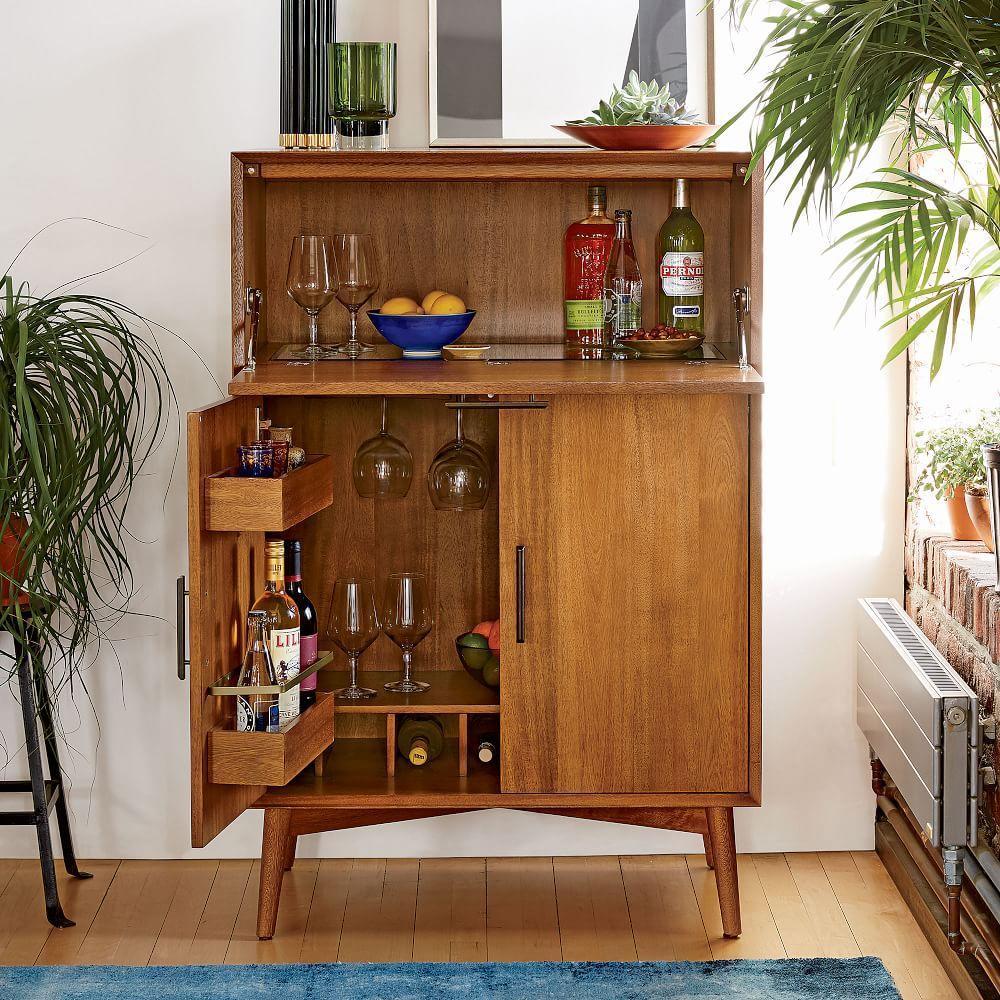 midcentury bar cabinet  large  west elm uk - midcentury bar cabinet  large