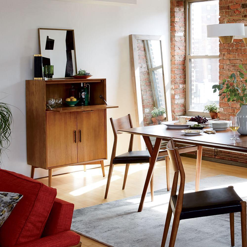Living Room Bar Cabinet Mid Century Bar Cabinet Large West Elm Uk