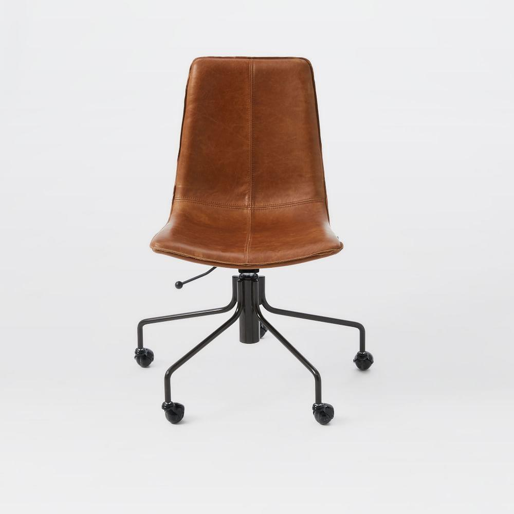 furniture desk chairs slope leather office chair