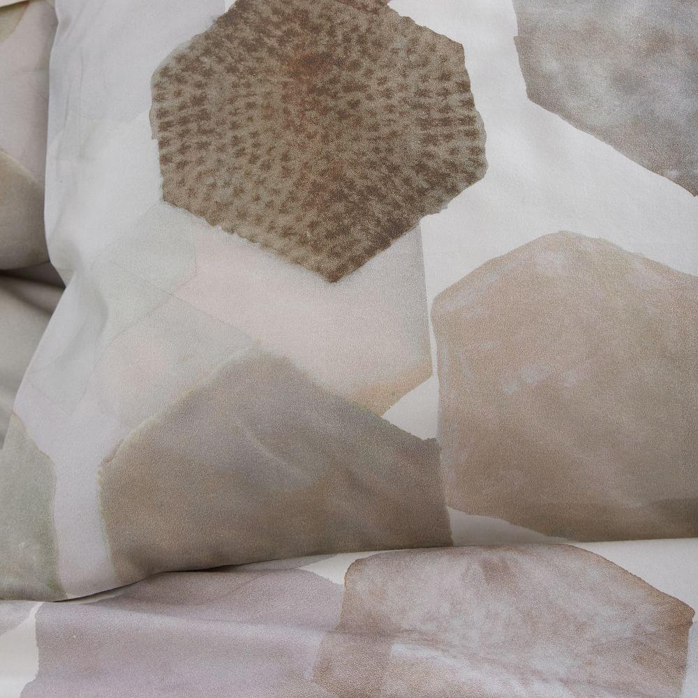 Organic Geo Sateen Square Pillowcases West Elm Uk