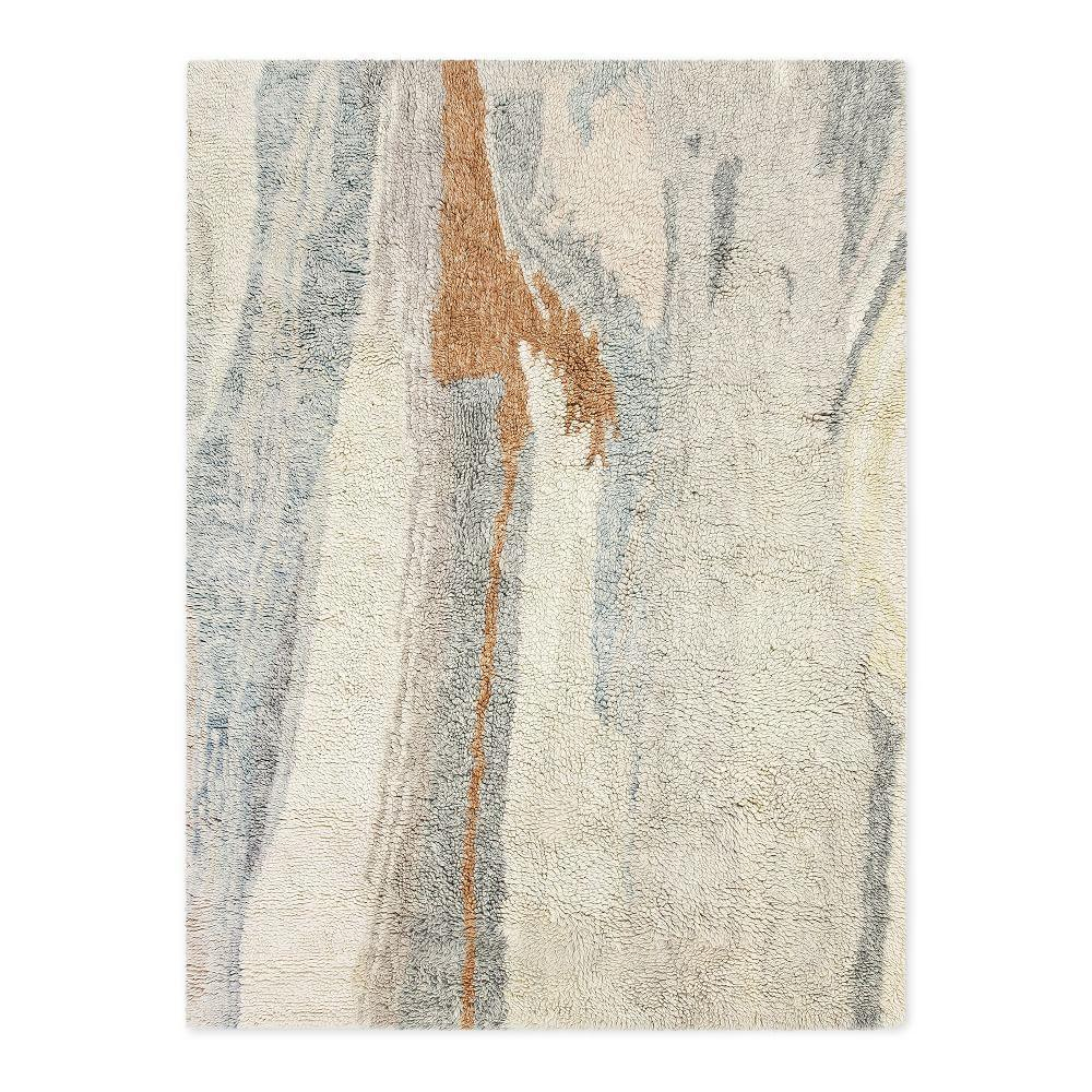 West Elm Pebble Rug Review: Marbled Wool Shag Rug - Multi