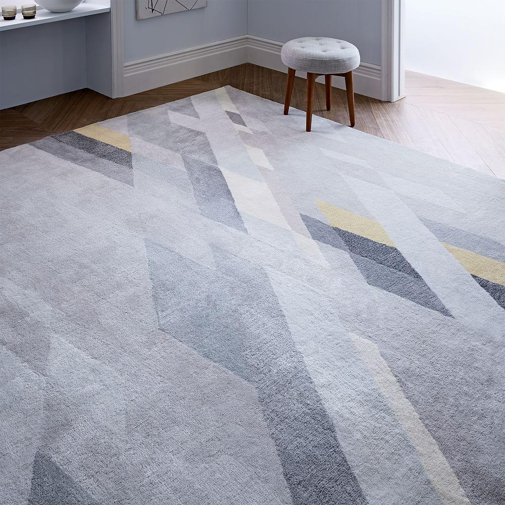 West Elm Rug Shedding: Abstract Ribbons Wool Rug
