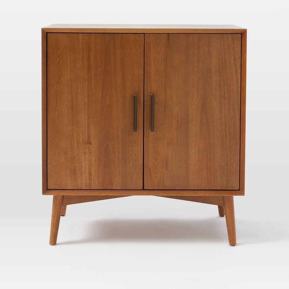 midcentury bar cabinet  small  west elm uk - midcentury bar cabinet  small