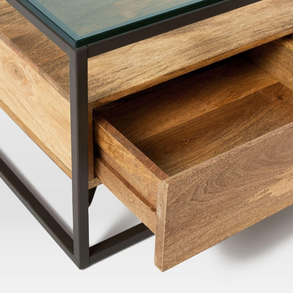 Box frame storage coffee table west elm uk for Coffee tables you can put photos in