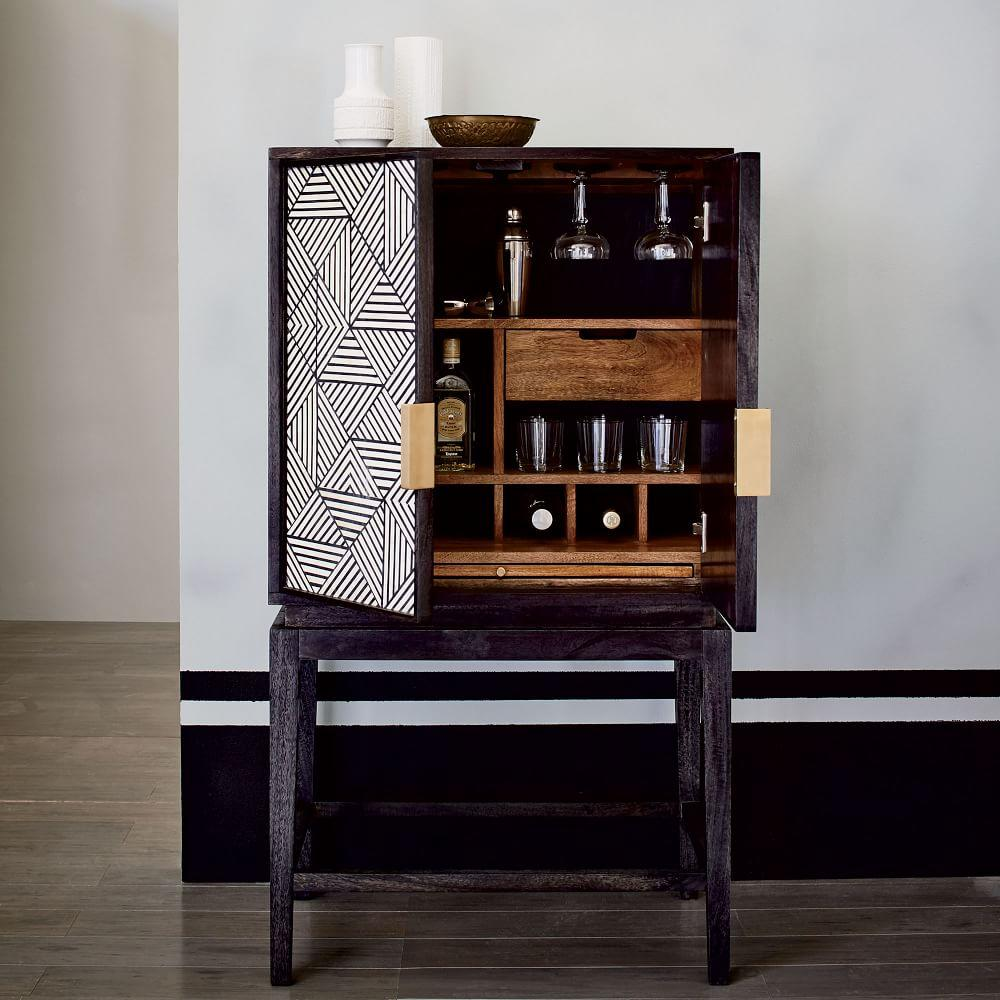 Bone Inlaid Bar Cabinet West Elm Uk