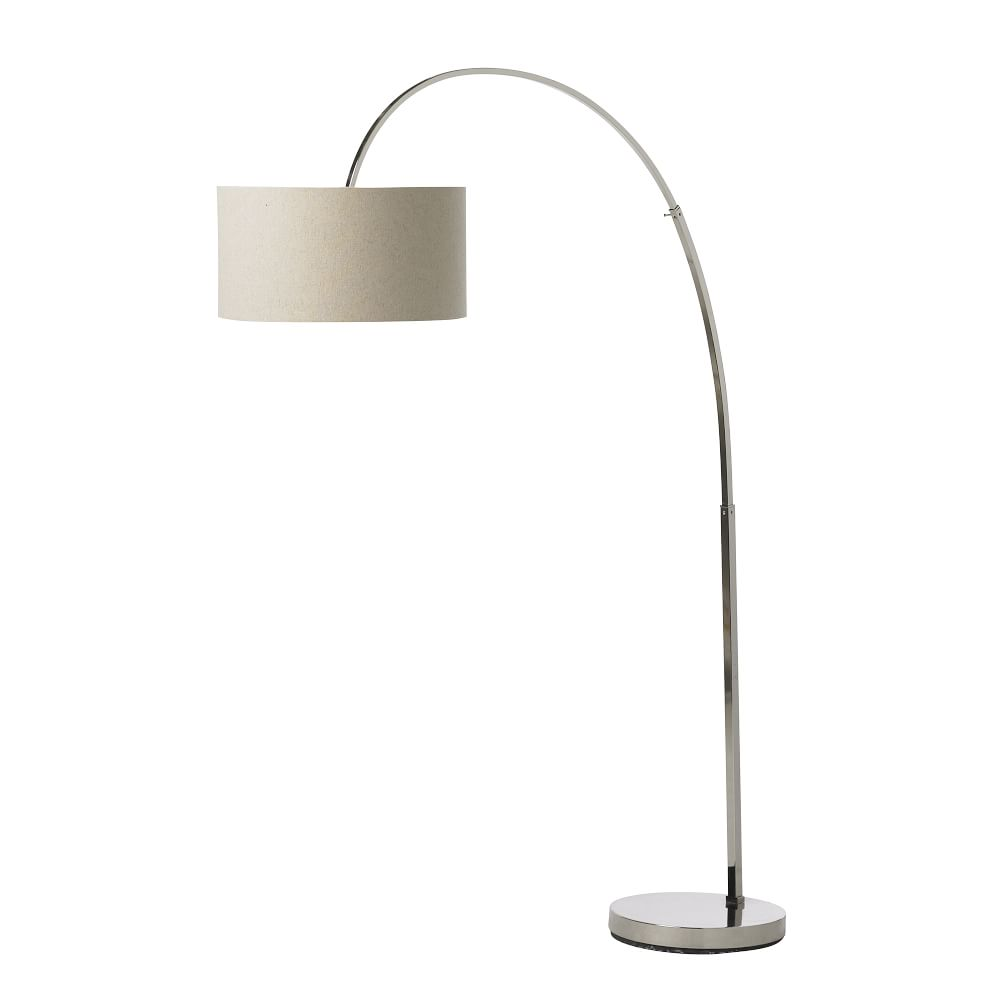 Overarching floor lamp polished nickelnatural west elm uk overarching floor lamp polished nickelnatural aloadofball Choice Image