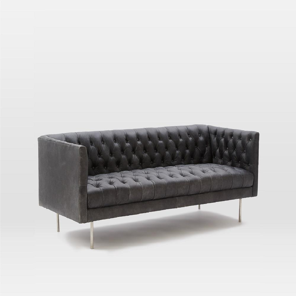 modern chesterfield leather sofa. Black Bedroom Furniture Sets. Home Design Ideas