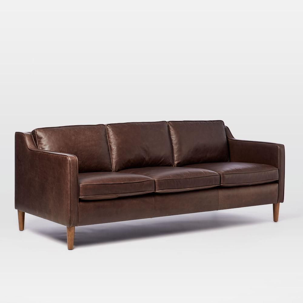 Hamilton leather sofa mocha 206 cm west elm uk for Furniture and home decor hamilton county