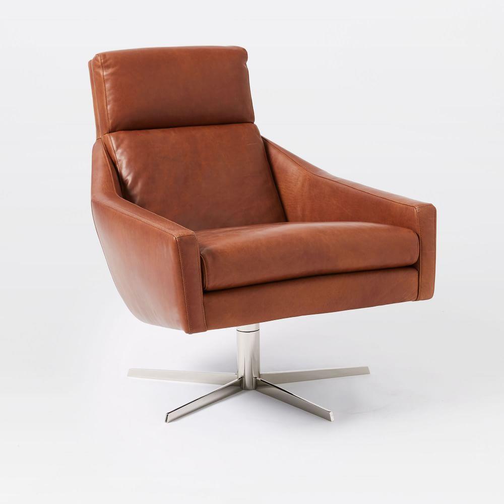 austin swivel armchair west elm uk