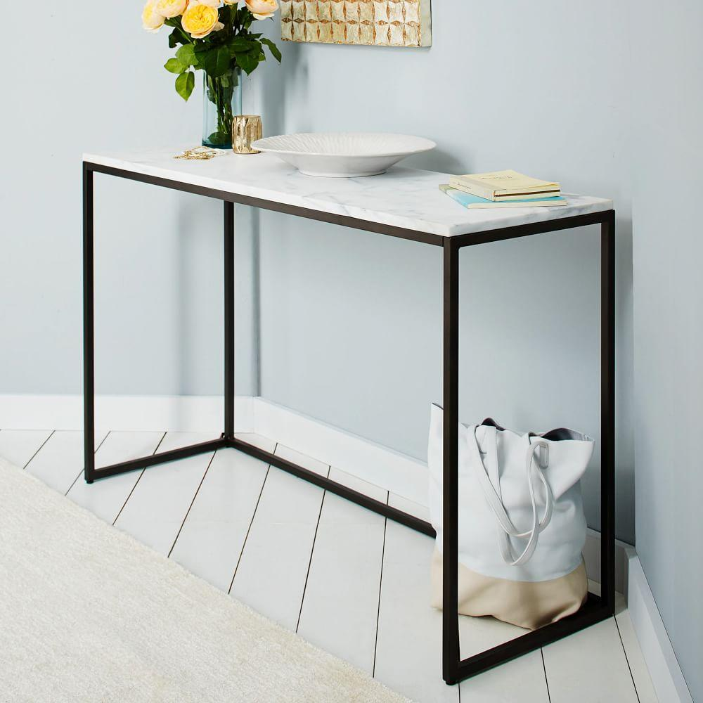 Box Frame Console - Marble | west elm UK