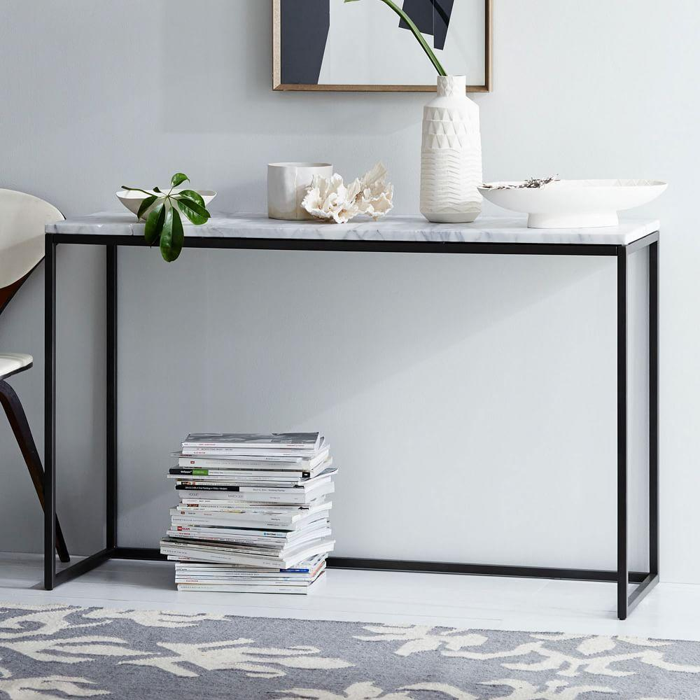 Box frame console marble west elm uk box frame console marble geotapseo Choice Image