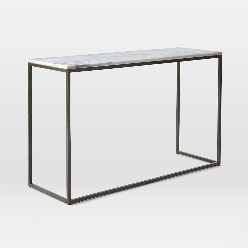 Box Frame Console - Marble | west elm UK