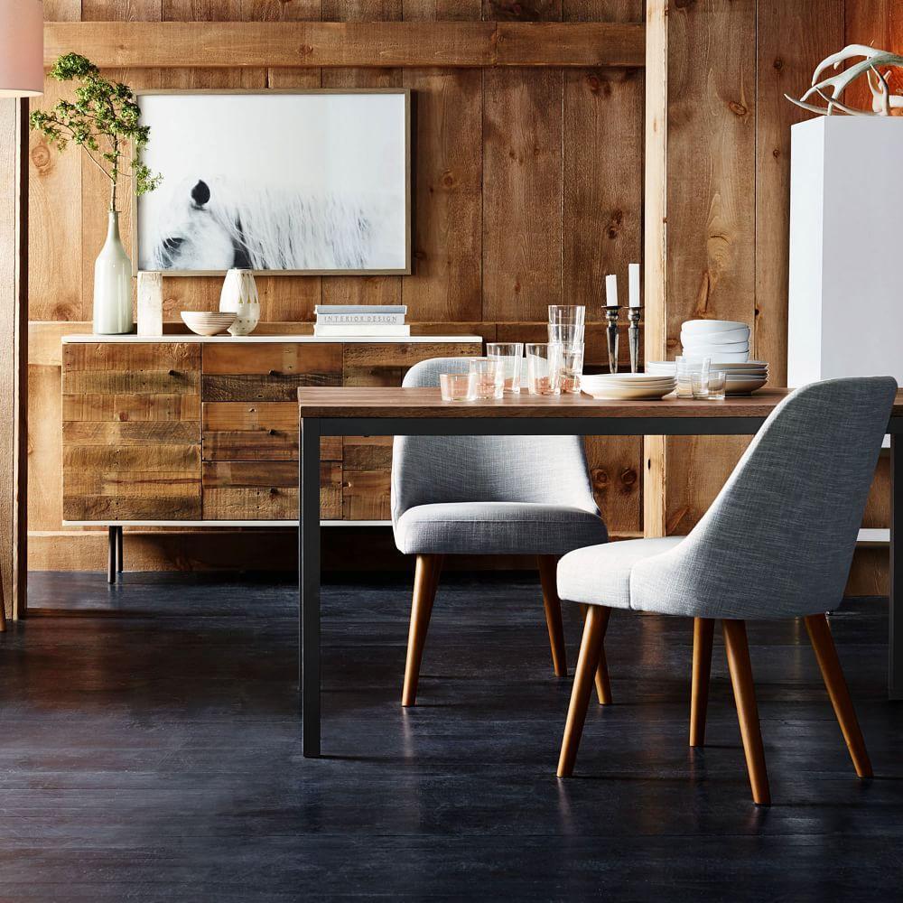 Mid-Century Dining Chairs - Walnut Legs | west elm UK