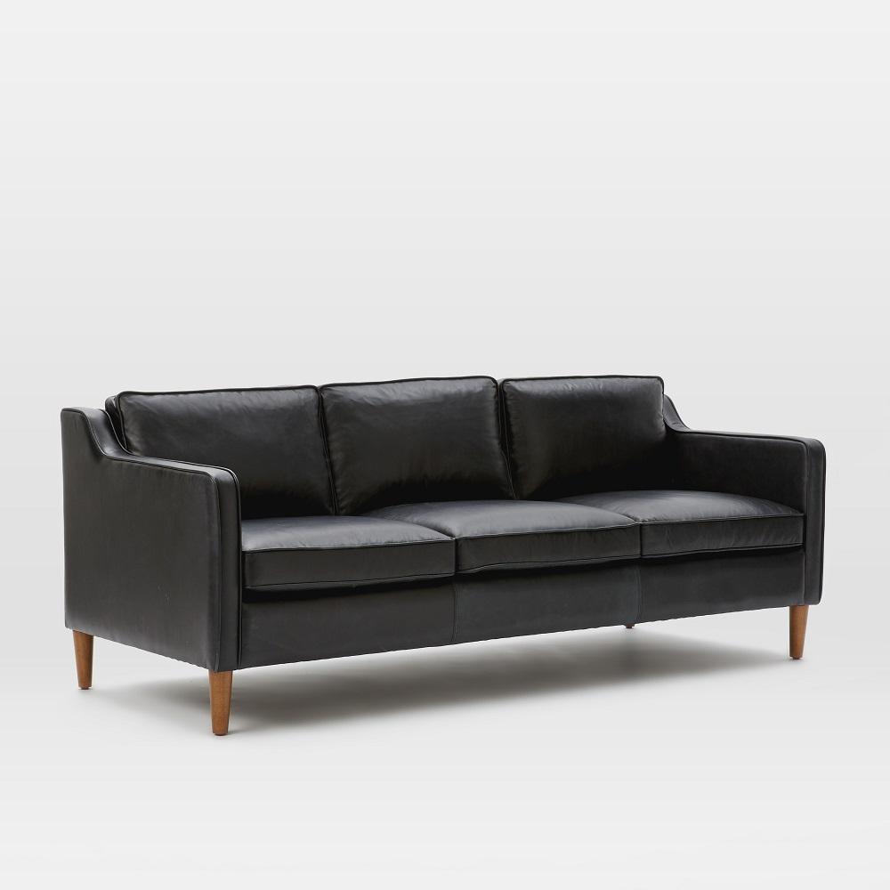 Hamilton leather sofa black for Sectional sofas hamilton