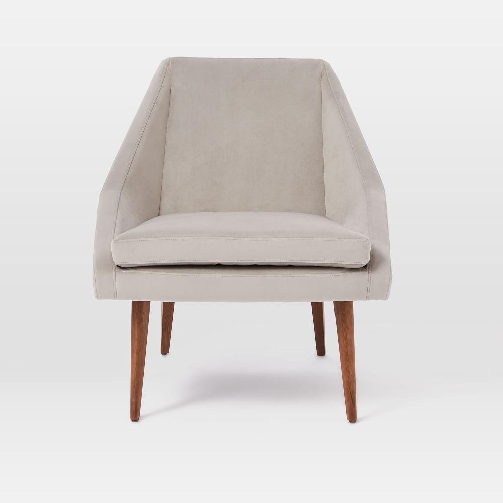 Leather slipper chair west elm - Parker Slipper Chair Dove Grey