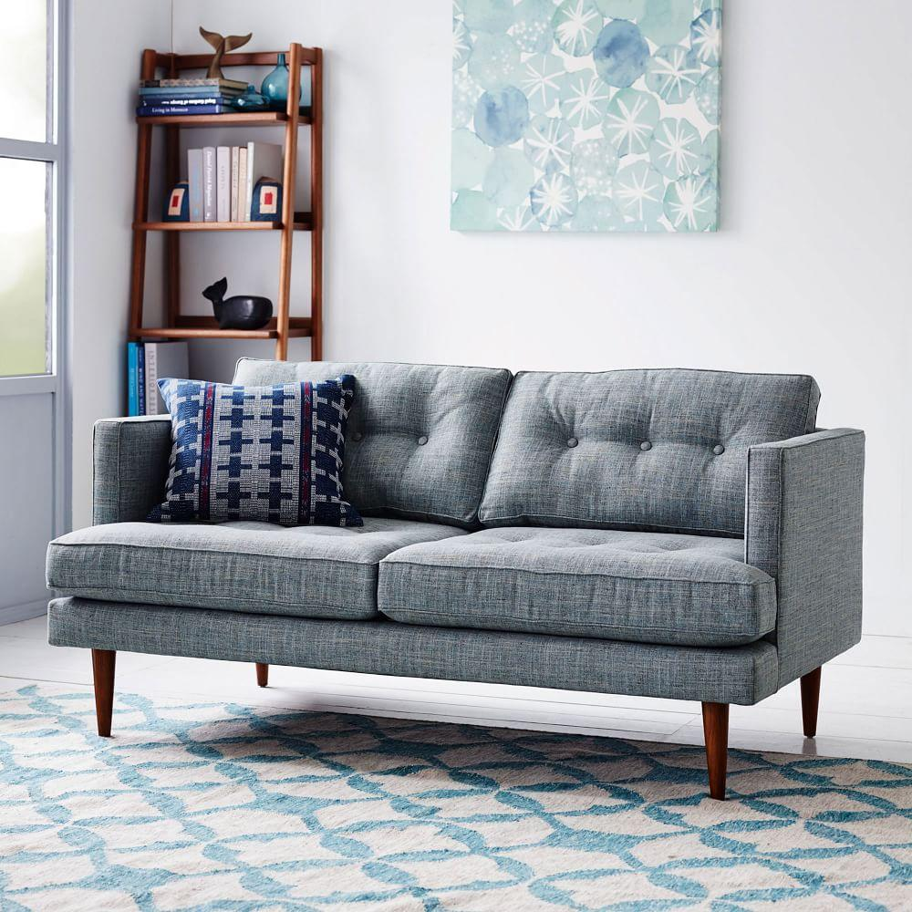 Tile wool kilim aquamarine west elm uk for Bedroom loveseat
