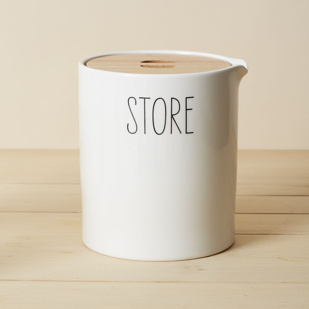 Labelled Kitchen Storage Canisters