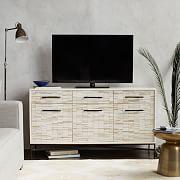 Wood Tiled Media Console (137 cm)