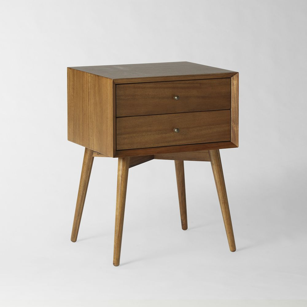Mid century bedside table acorn west elm uk for Bedroom table