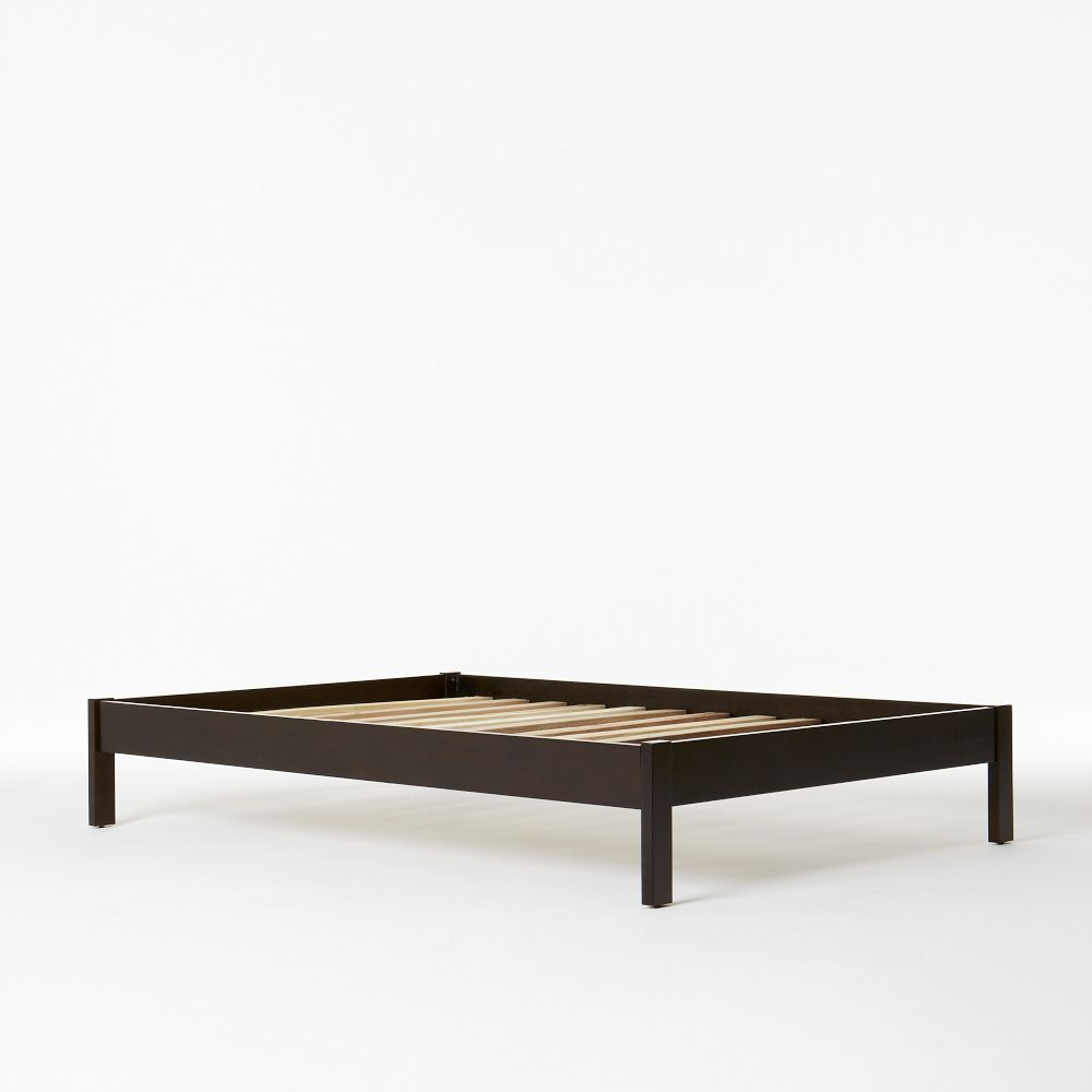Simple Single Bed : Furniture / Beds / Simple Bed Frame, Single - Chocolate