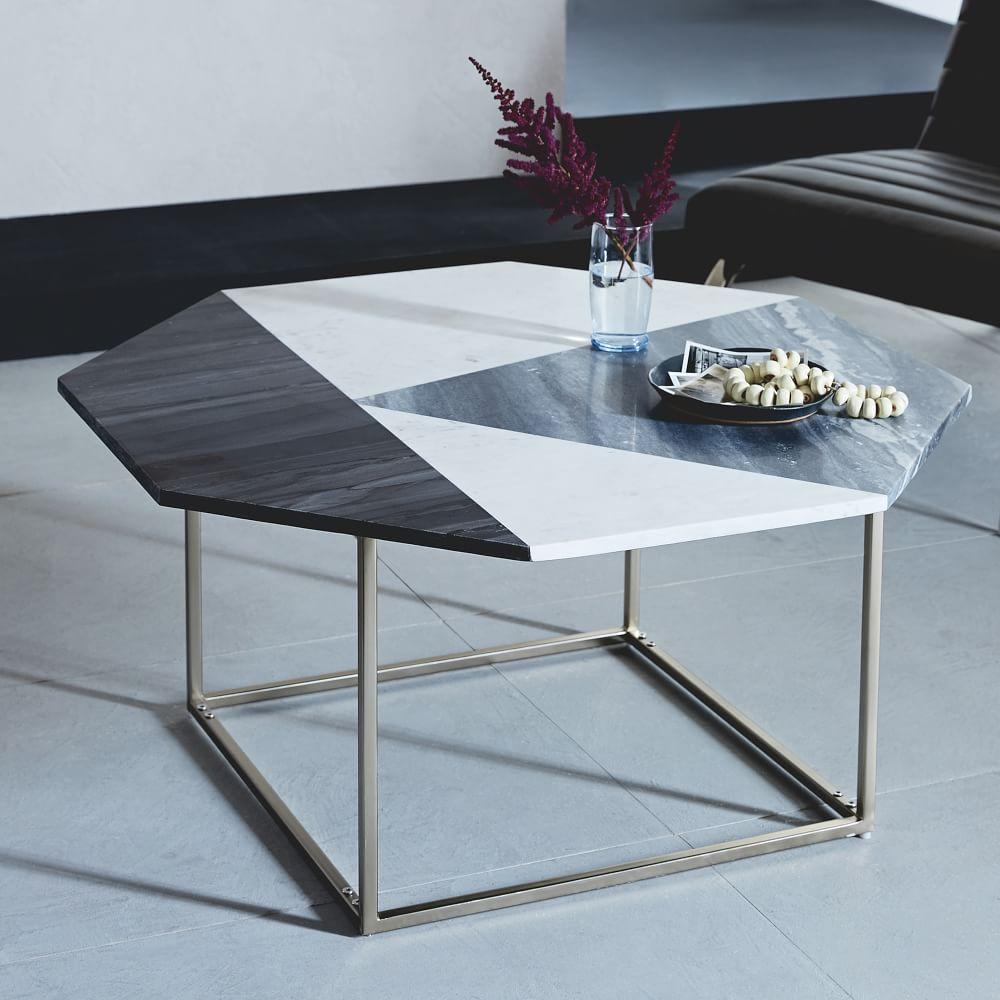 marquetry marble coffee table west elm uk. Black Bedroom Furniture Sets. Home Design Ideas