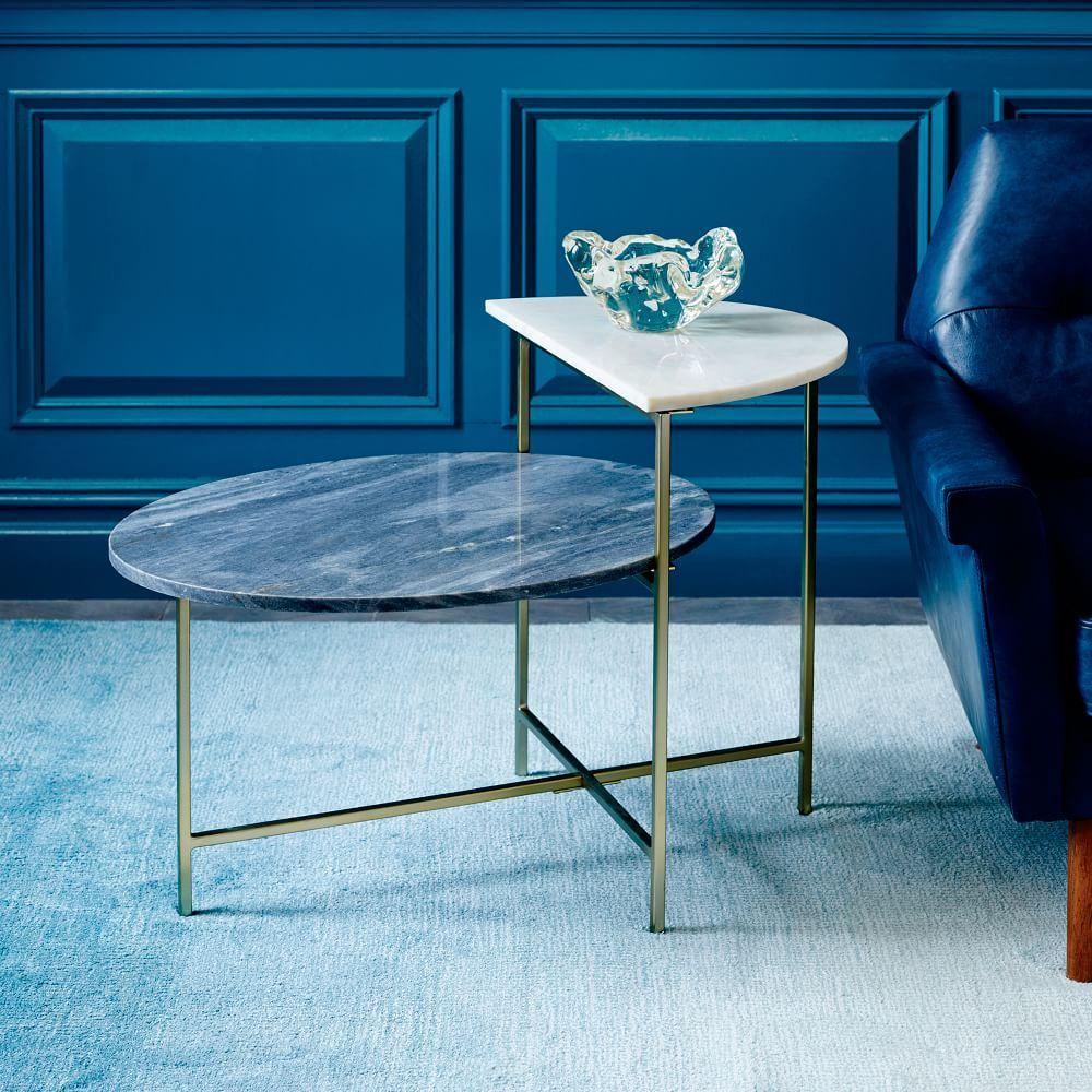 Marble Geo Stepped Side Table West Elm Uk