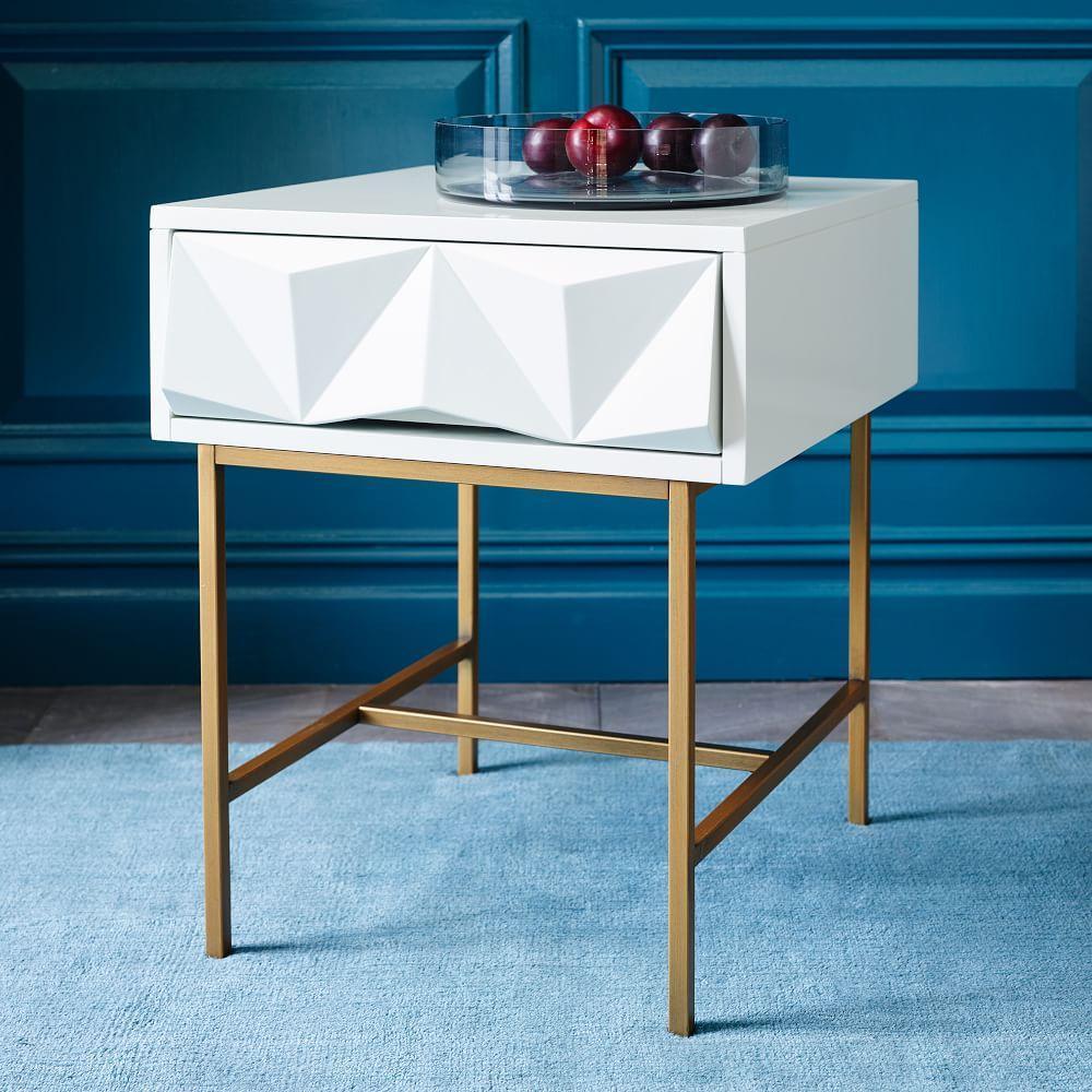 sculpted geo side table west elm uk. Black Bedroom Furniture Sets. Home Design Ideas
