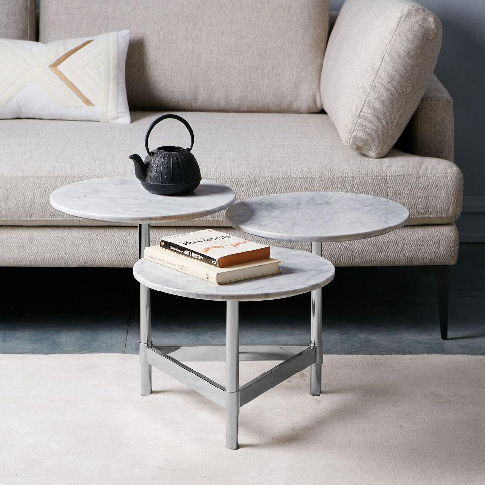 Steel Coffee Table Circles: Tiered Circles Coffee Table
