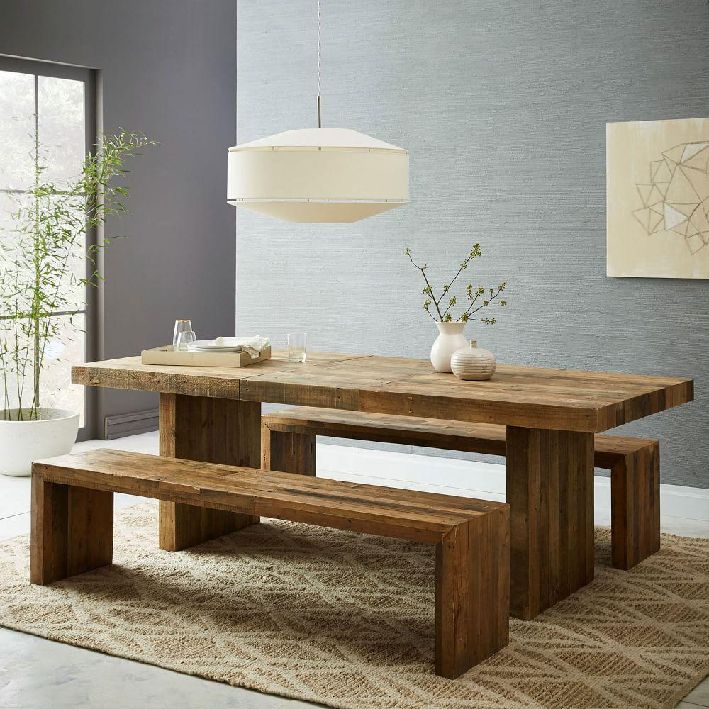 Dining Table Wood: Emmerson™ Reclaimed Wood Expandable Dining Table