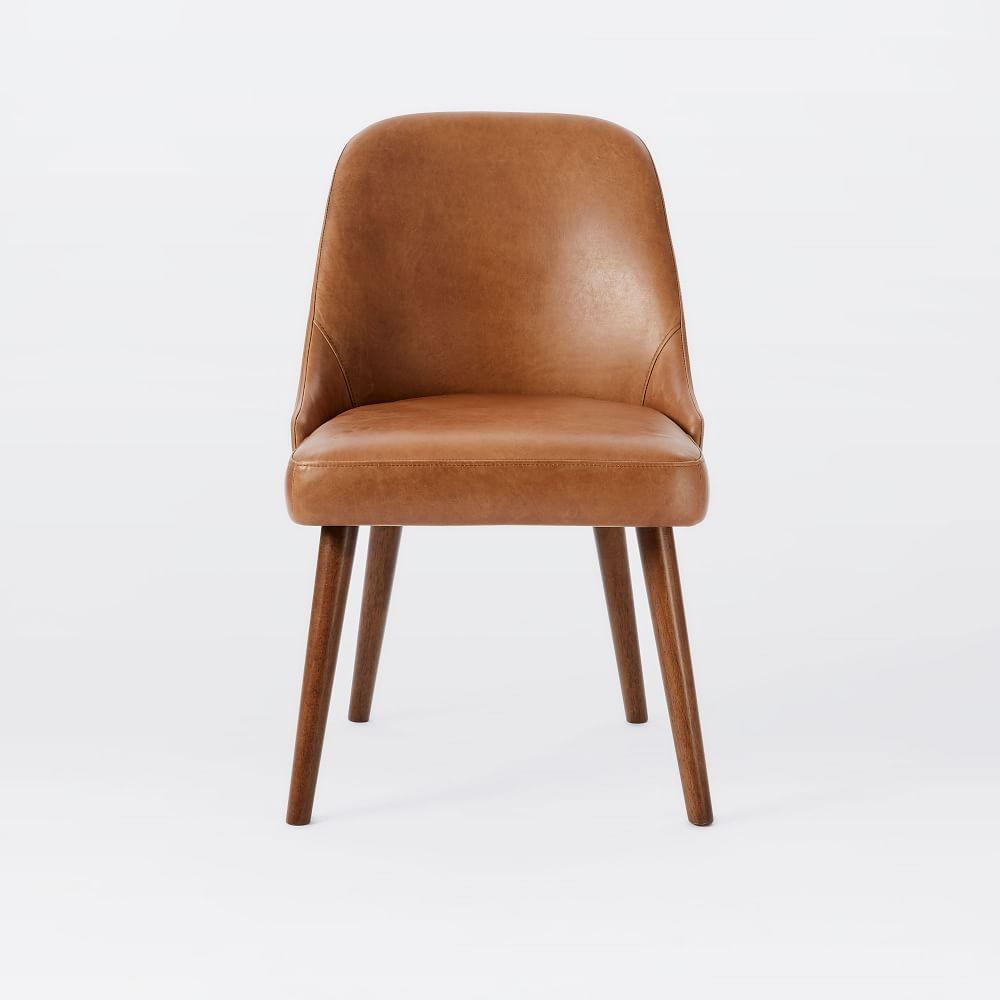 Mid Century Leather Dining Chair West Elm UK